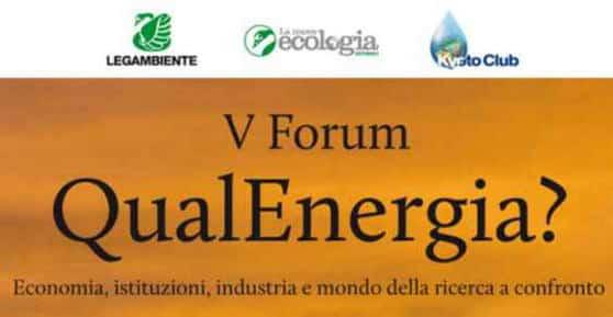 V Forum QualEnergia 2012: oggi e domani a Roma protagonista la Green Economy