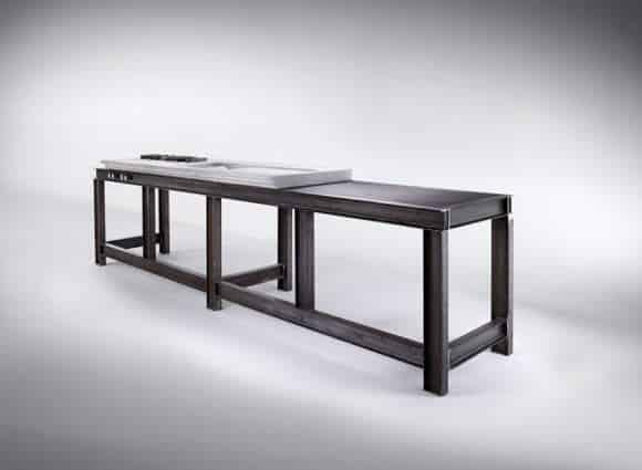 La cucina di design con materiali di scarto