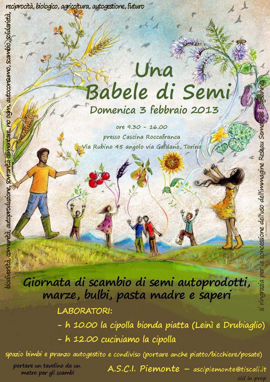 Torino, 3 febbraio - Una Babele di Semi 2013