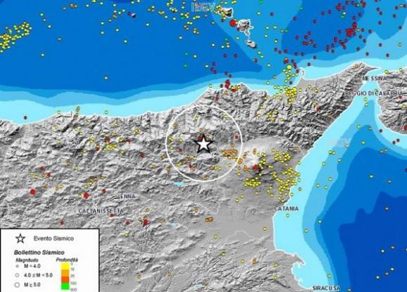 Terremoto in Sicilia, 4 gennaio 2013: oltre dieci scosse nelle ultime ore. Magnitudo 4,3 in provincia di Messina