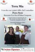 Palma Campania, Terra Mia: a tavola con i piatti dello chef contadino Pietro Parisi