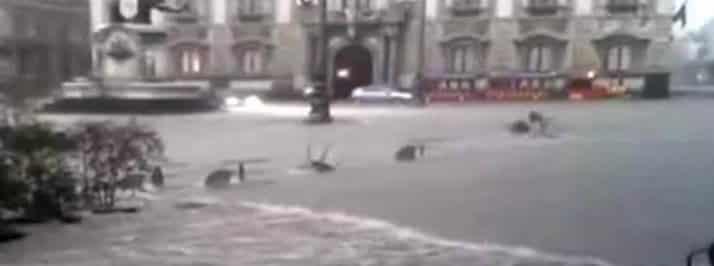 Nubifragio a Catania: la città allagata
