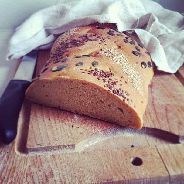"""Treccia di grano """"Etrusco"""" integrale ai semi misti"""
