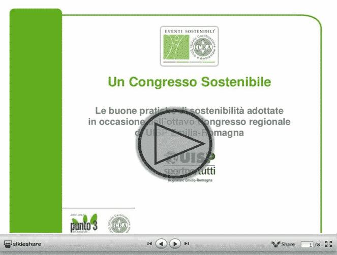 La prima certificazione Eventi Sostenibili® - ICEA a UISP Emilia-Romagna