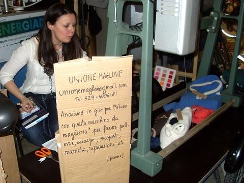 Maglieria in bicicletta: creatività a Fa' la cosa giusta