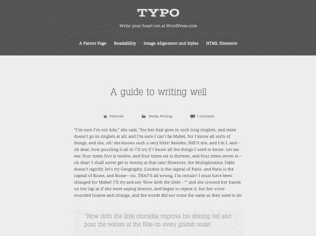 New Theme: Typo