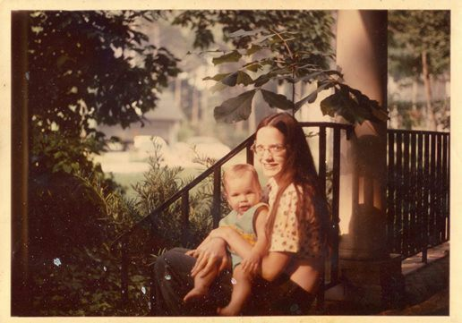 Christy and her mom.