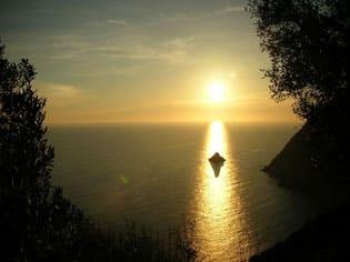 Scoglio del Ferale al tramonto