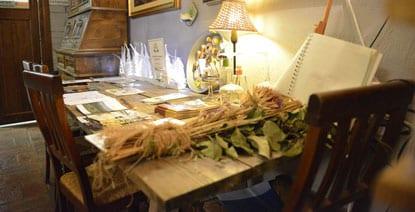 Intima atmosfera al ristorante dell'Agriturismo Bagnacci