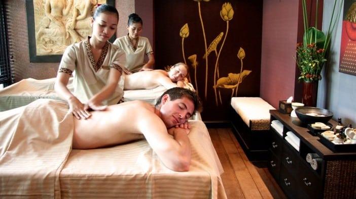 massaggio in spa con vino riciclo