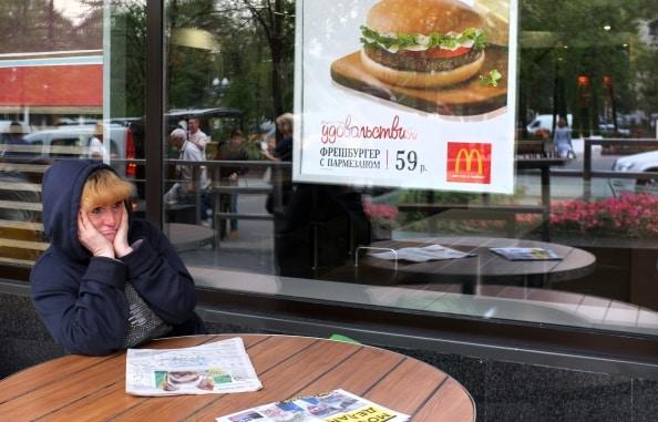 Chiusi in Russia 10 McDonald's, in corso 200 controlli a sorpresa