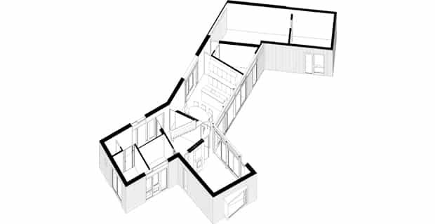 Villa Bakkum: un confortevole chalet moderno rivestito in legno e pietra
