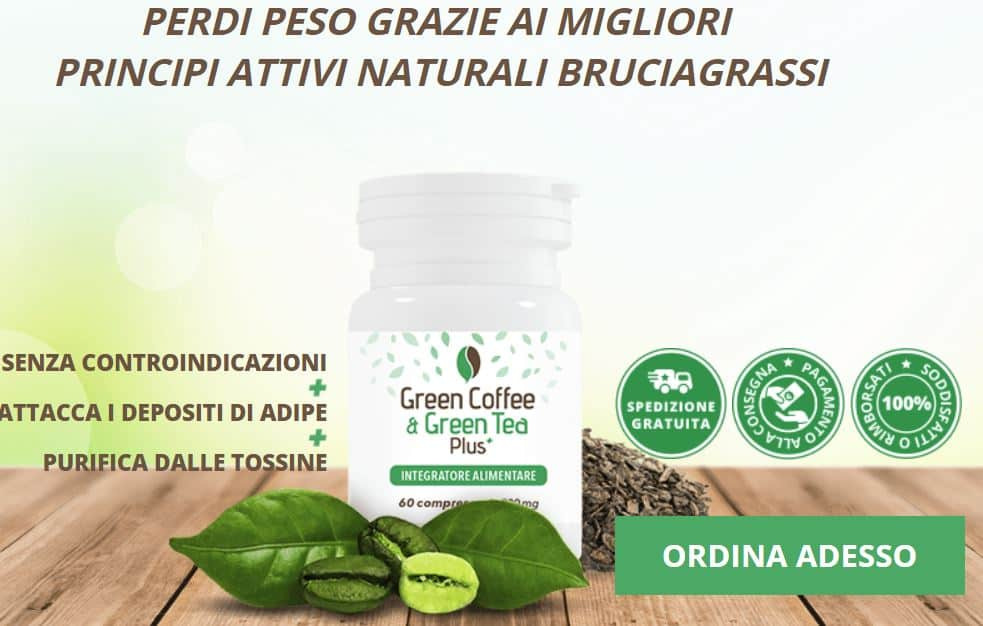 Green Coffee & Green Tea Plus: rimedio naturale che fa perdere peso